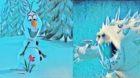 アナ雪2 アナと雪の女王 エンドロール後のオマケ オラフ マシュマロウ 氷の怪物 雪男 雪だるま